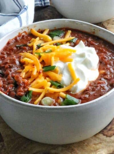 a bowl of the best chili recipe