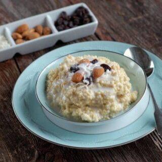 Coconut Millet Breakfast Porridge