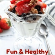 Fruit parfait for kids