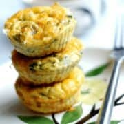 Kid friendly breakfast recipes: Spinach & Sweet Potato Frittata Muffins are the perfect make ahead breakfast. An easy way to get vegetables into your family at the start of the day.