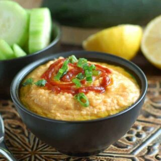 Low Fat Sriracha Hummus is a simple appetizer recipe to make for you next party or just for lunch. With chickpeas, spices, and sriracha, this recipe comes together quickly. Spread on a sandwich, eat with crackers, or dip with veggies. Via https://createkidsclub.com