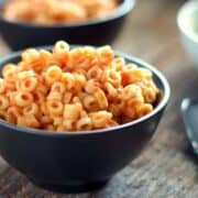 These homemade Spaghetti O's are a copy cat recipe of the canned variety only more nutritious and made with fresh ingredients. They are the perfect lunch or dinner recipe and leftovers work well in a lunchbox. Surprise your children by saying yes to Spaghetti o's today! via createkidsclub.com