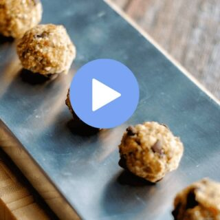 This Peanut Butter Ball recipe has just 4 ingredients. This is the perfect recipe for a healthy snack - after school, sporting event, or as dessert. This easy recipe can be made by even young children and is a great recipe to get kids cooking. Watch the how to recipe video to see how simple this kid friendly food is to make. via https://createkidsclub.com
