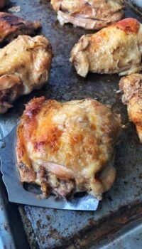 A close up of food,  Chicken Thighs