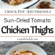Crock Pot Chicken Thighs. This simple chicken recipe is so easy you can get it ready in 5 minutes. A quick dinner recipe that cooks all day. A great meal for busy nights. An inexpensive dinner.