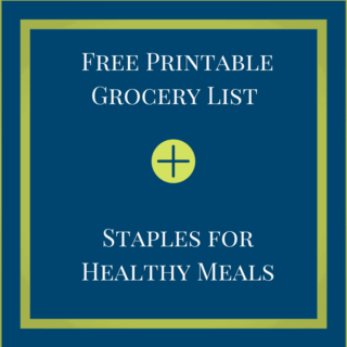 Pantry Staples & Grocery List Printables
