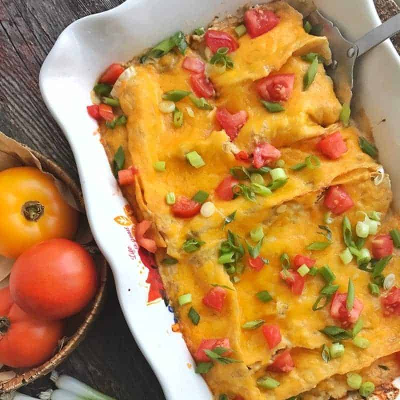 Healthy Dinner Recipes Make The Perfect Family Meals This Chicken Enchilada Recipe Uses Leftover