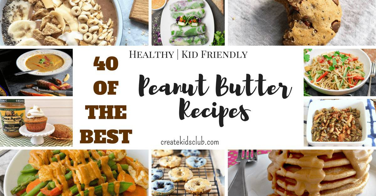 a photo of many photos with the words 40 of the best peanut butter recipes.