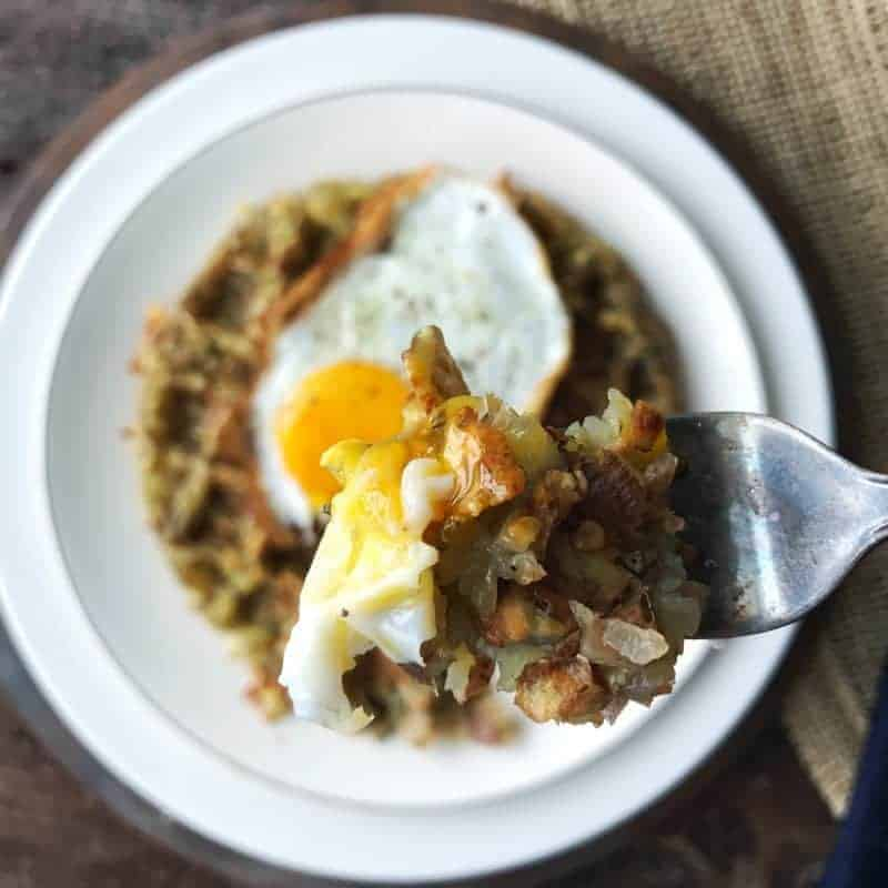Waffle hash browns make the perfect addition to dinner. Serve as a side dish, or top with eggs or chicken for a hearty dinner meal. Easy to make, delicious to eat.
