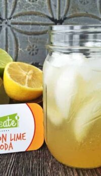 lemon-lime soda in a mason jar
