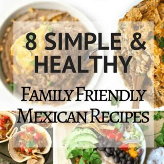 A college of Mexican recipe photos.
