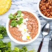 homemade refried beans recipe