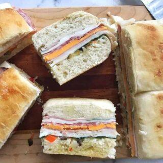 Muffuletta Style Summer Sandwich