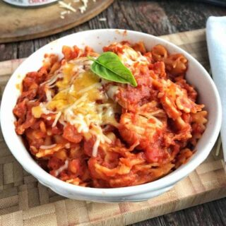 A delicious back to school recipe that has under 10 ingredients. This kid favorite dinner meal can't get any easier. Spaghetti sauce is blended with chicken and salsa for a zesty pasta dish that even the pickiest of eaters are sure to enjoy.