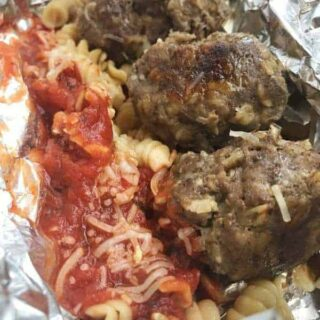 Meatball Foil Packs are a fun dinner recipe that can be made two ways. The perfect camping recipe - you can make either spaghetti and meatballs or a meatball sandwich easily.