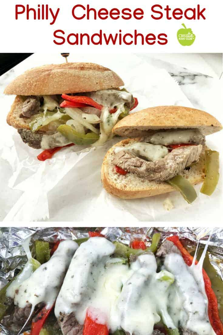 An easy Philly Cheesesteak recipe that's healthy and perfect for camping. A foil pack steak sandwich great for BBQ's,  cookouts, over the campfire, or made in the oven for a fun dinner idea.  #phillycheesesteak #campingideas #campingrecipe