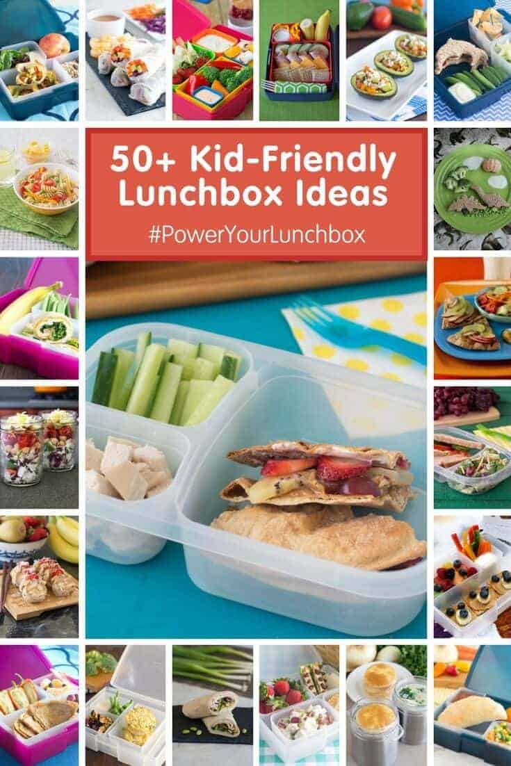 Healthy Lunches For Kids is not as hard as it sounds. Here are the Top 5 Lunchbox Gadgets that make packing healthy lunches for kids simple! Plus 50+ lunchbox ideas!  #PowerYourLunchbox @produceforkids