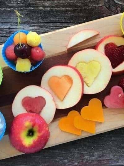 Fruit cut into shapes
