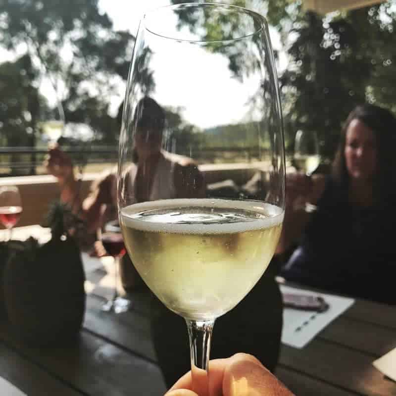 A glass of wine in  Wine Country