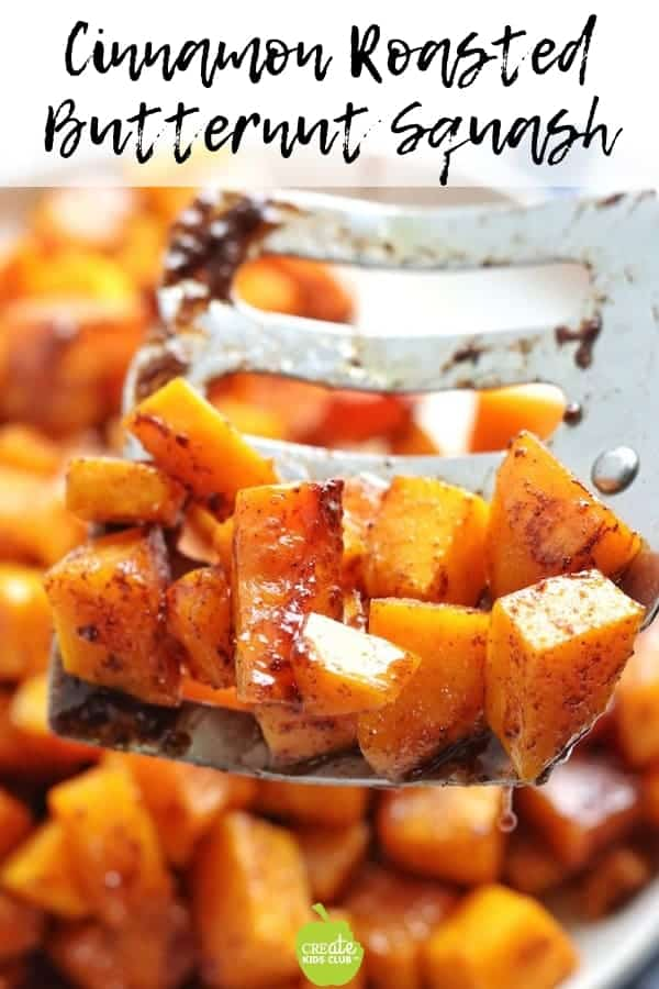 This Cinnamon Roasted Butternut Squash is the perfect side dish for your fall/winter meals. It's a great veggie for kids. #roastedbutternutsquash #squash #sidedish
