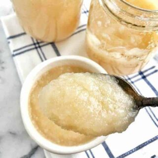 a spoonfull of homemade applesauce