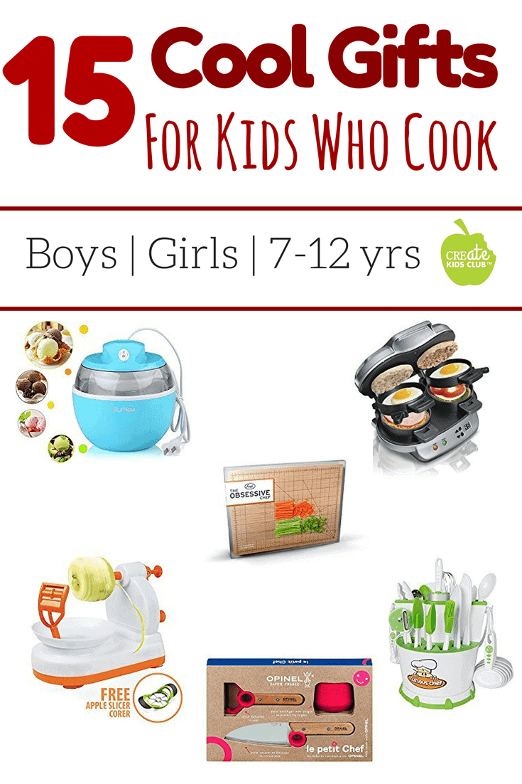 15 Best Gifts for Young Cooks has great gift ideas for the budding chefs in your life.  This kids gift guide reviews fun holiday gifts for kids ages 7 thru 11 who enjoy cooking, baking, and spending time in the kitchen.  #giftguideforkids #giftguide #kidscooking #holidayguideforkids #giftsforkids #youngcooks #whattobuy #cooking #buddingchef #littlechef #giftideas