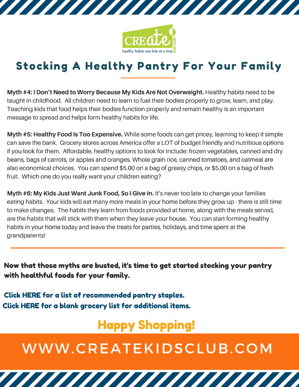 info on stocking a healthy pantry.