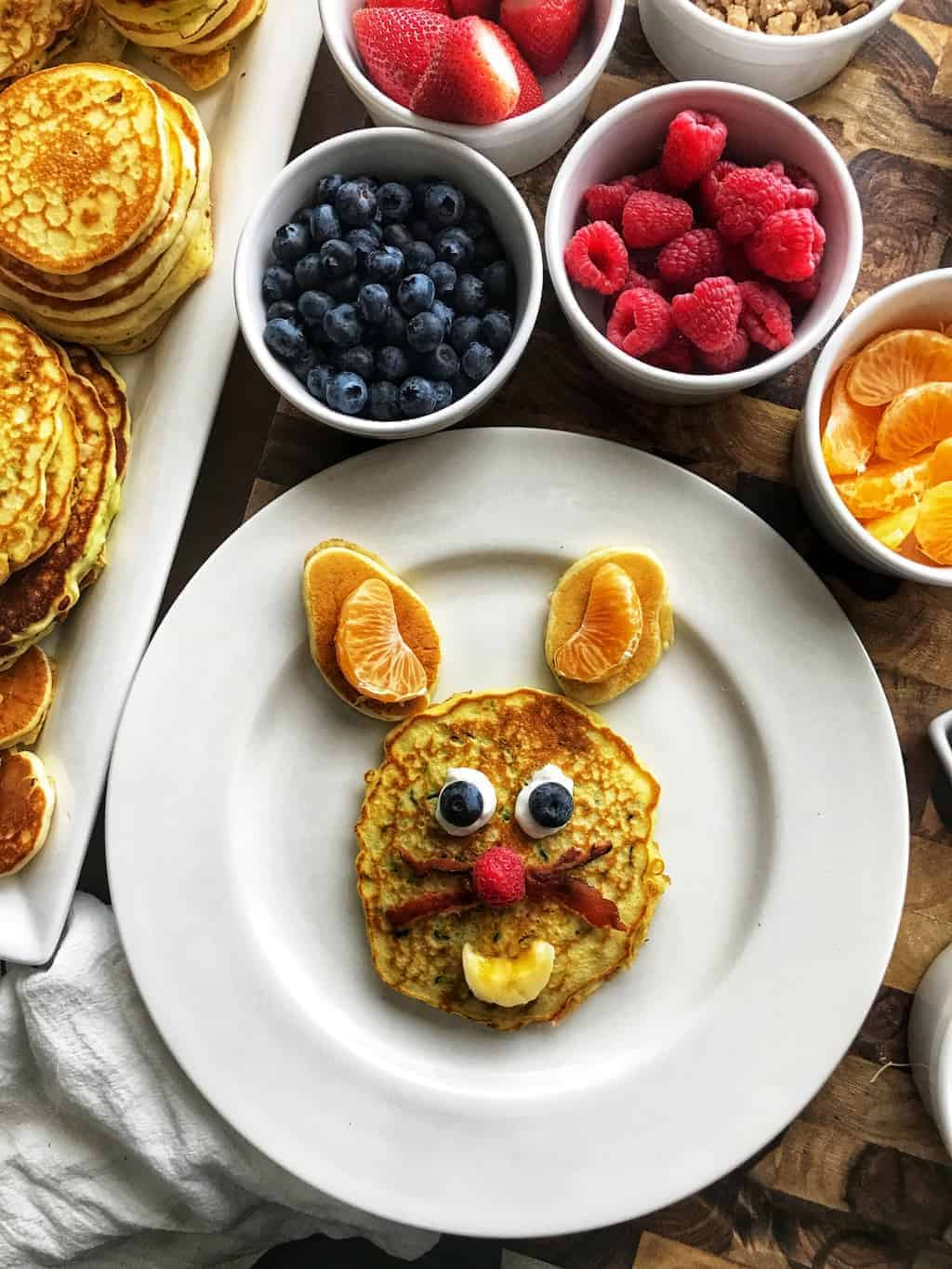 Easy recipes for kids. These bisquick recipes are perfect for kids cooking. Kids can easily make these animal pancakes and they are the perfect sleepover breakfast idea.