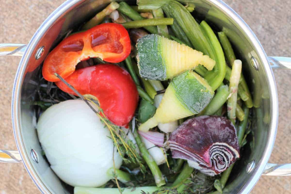 How to make vegetable stock from scraps. Learn how to freeze vegetable scraps for use in homemade chicken stock or homemade vegetable stock recipes. Save time, same money, save waste.