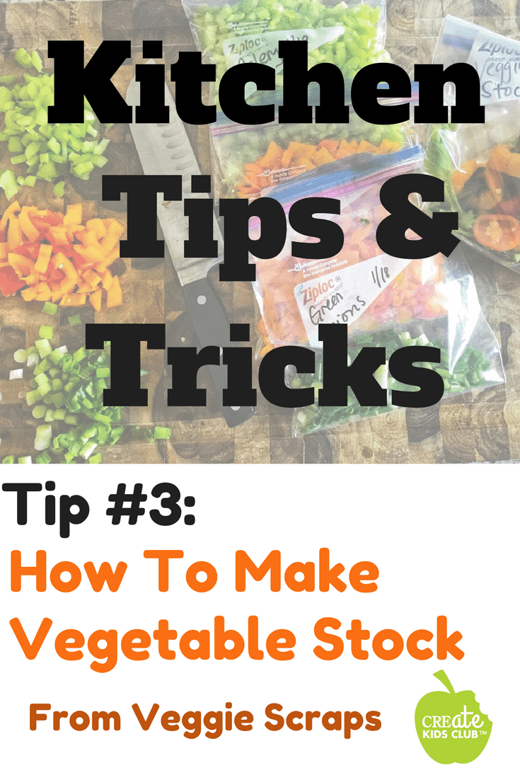 How to make vegetable stock from scraps.  Learn how to freeze vegetable scraps for use in homemade chicken stock or homemade vegetable stock recipes.  Save time, save money, save waste. #homemadestock #vegetablescraps #veggiescraps #freezevegetables #howtofreezevegetables #howtomakestock
