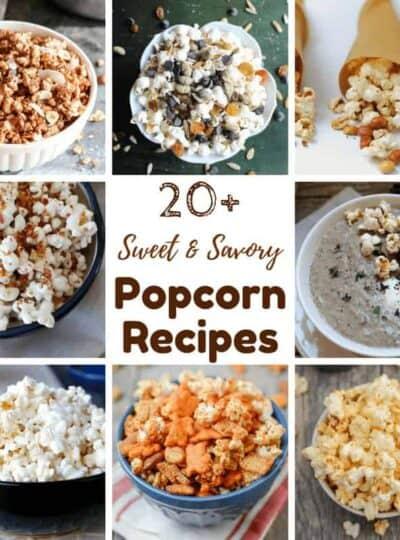 photos of 20 popcorn recipes