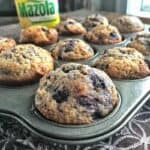 Easy blueberry muffin recipe made with yogurt
