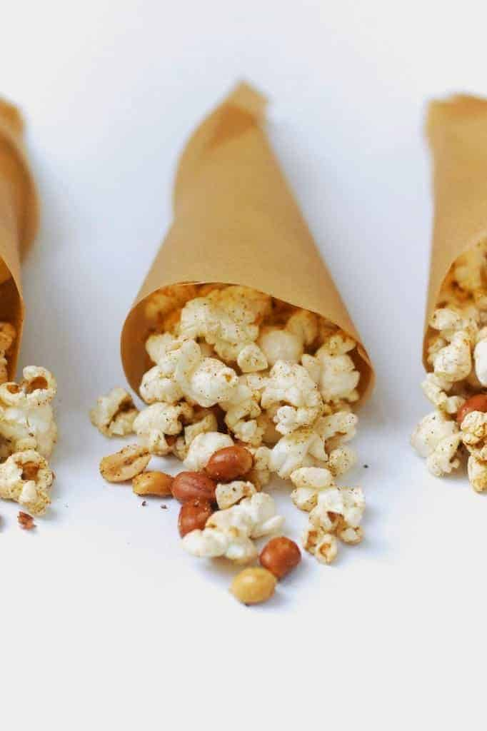 a bowl with popcorn