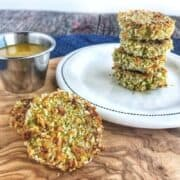 Vegetable nuggets made with broccoli and carrots