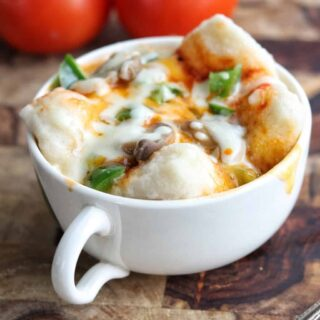 Kids lunch ideas mug pizza recipe microwave pizza photo