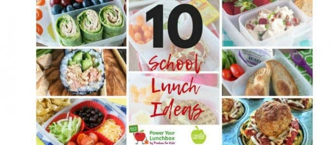 10 school lunch ideas