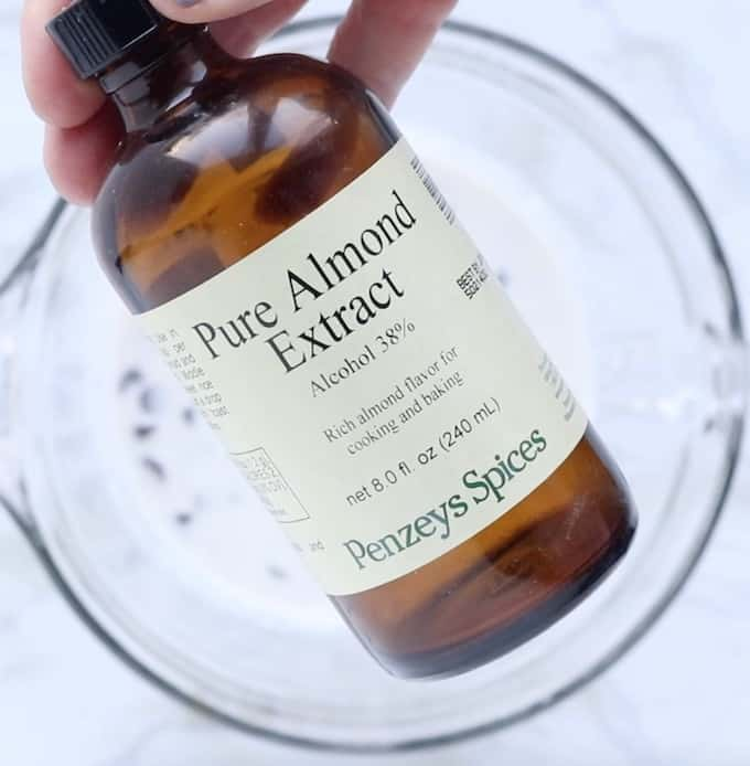A bottle of almond extract