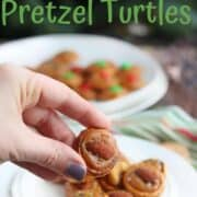 Turtle candy is a pretzel turtle with caramel turtles, rolo pretzels or pecan turtles