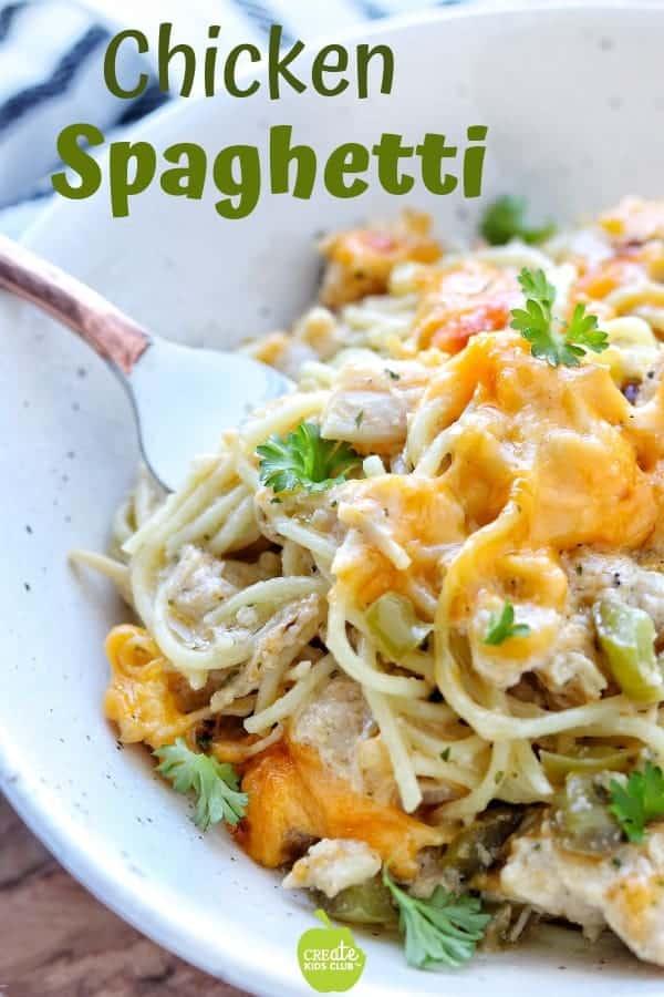Chicken Spaghetti Recipe Chicken and pasta recipes