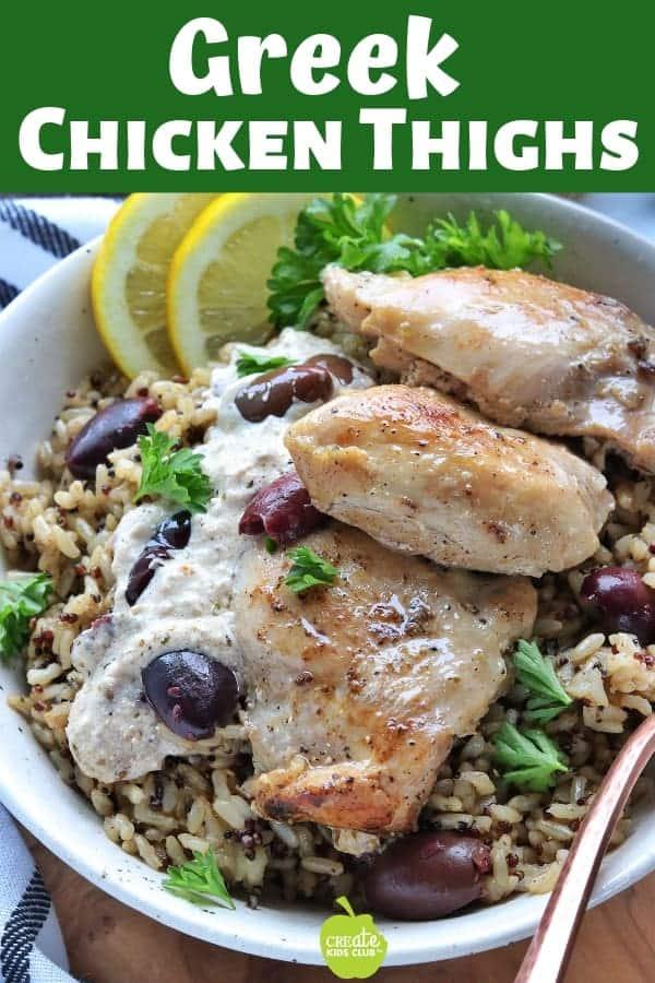Greek Chicken Thighs a lemon chicken recipe