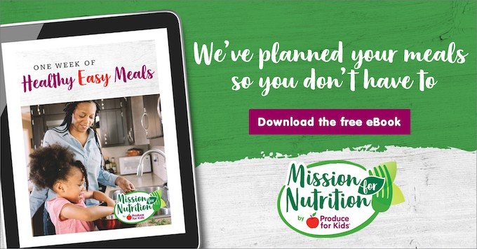 National Nutrition month 2019 showing how to download a free ebook from mission for nutrition.