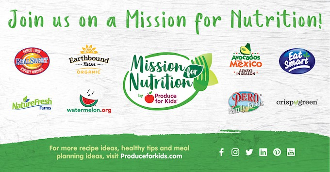 National Nutrition month 2019 showing sponsors of mission for nutrition.