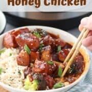 Chinese Honey chicken recipe, pressure cooker chicken, instant pot frozen chicken breast