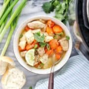 Instant pot chicken stew a pressure cooker soup recipe