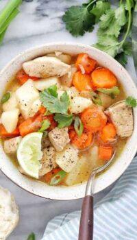 Instant pot chicken stew a pressure cooker soup recipe