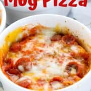 Mug Pizza is Pizza in a mug a great Microwave meals for kids and an easy dinner idea for kids