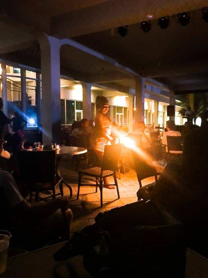 Fire blower at hilton rose hall jamaica for nightly entertainment