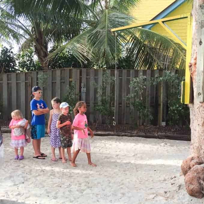 kids playing at the mucky duck in Captiva Island