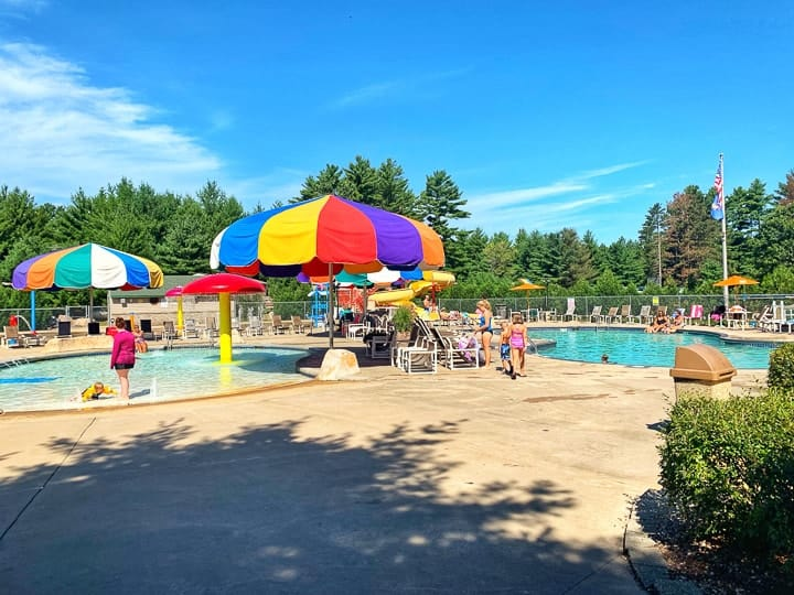2 pools at evergreen campground the best campground in wi
