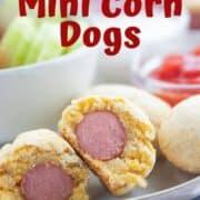 homemade mini corndogs